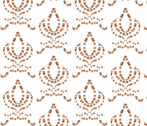 Fleur de Cafe fabric by louloutwo on Spoonflower - custom fabric