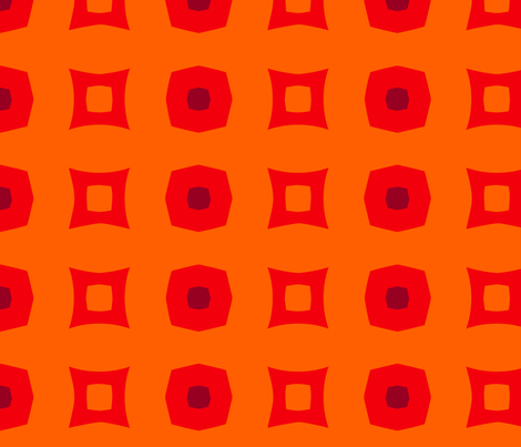 Boxes C (Orange) fabric by nekineko on Spoonflower - custom fabric