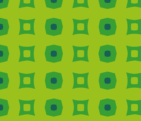 Boxes C (Green) fabric by nekineko on Spoonflower - custom fabric