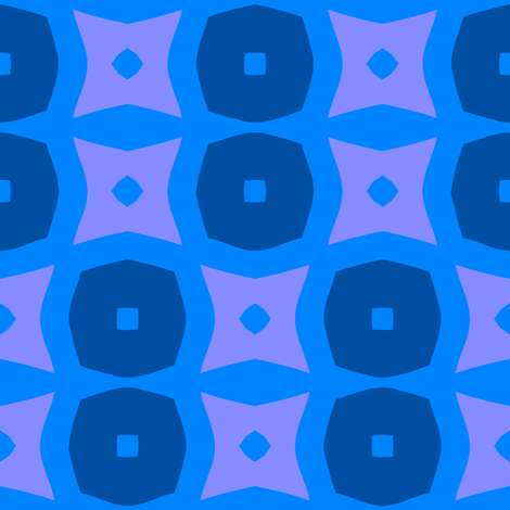 Donuts C (Blue) fabric by nekineko on Spoonflower - custom fabric