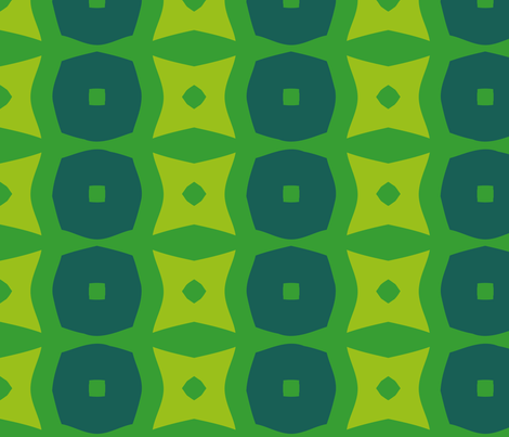 Donuts C (Green) fabric by nekineko on Spoonflower - custom fabric