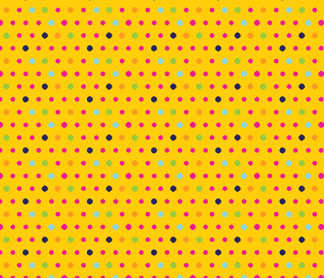 yellow dot fabric by cottageindustrialist on Spoonflower - custom fabric