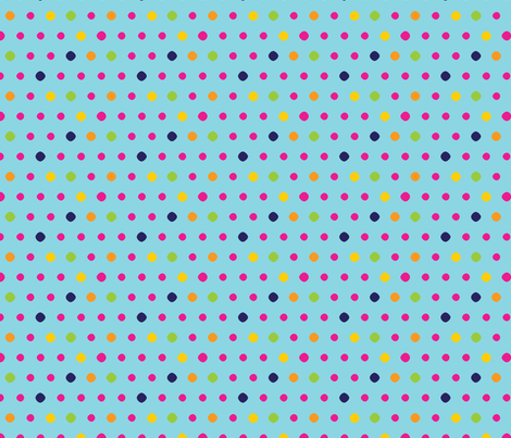 aqua dot fabric by cottageindustrialist on Spoonflower - custom fabric