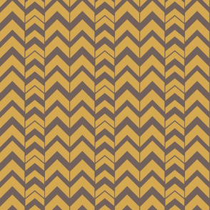 Chevron-Brushed Nickel & Brass SM