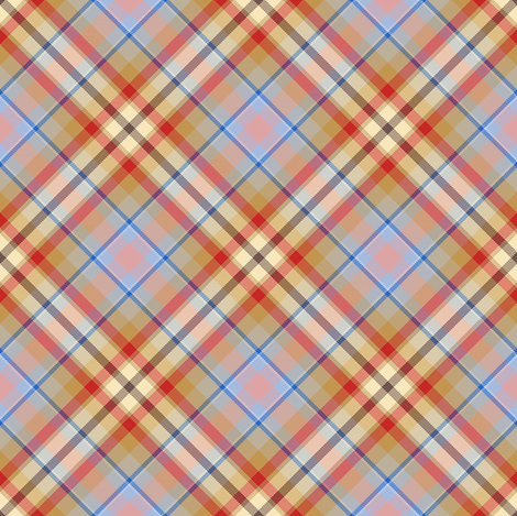 Tan, Red and Cream Plaid fabric by eclectic_house on Spoonflower - custom fabric
