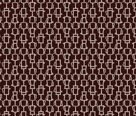 Cream on black coffee fabric by victorialasher on Spoonflower - custom fabric