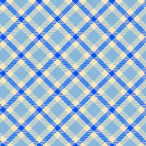 Blue and White Plaid fabric by eclectic_house on Spoonflower - custom fabric