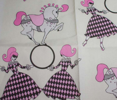 Pink and Cream retro circus