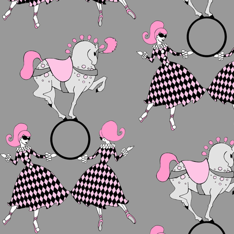 Grey Retro Circus fabric by beesocks on Spoonflower - custom fabric