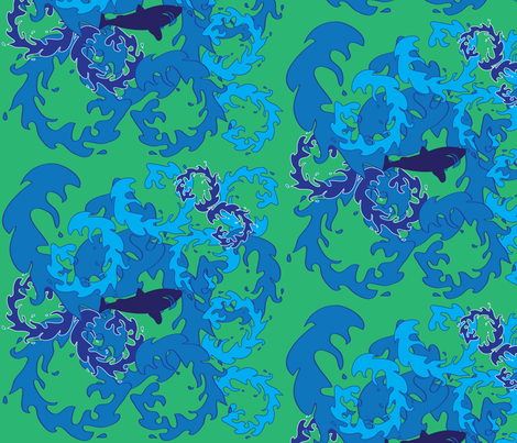 Don't Panic - Green Background 2 fabric by owlandchickadee on Spoonflower - custom fabric