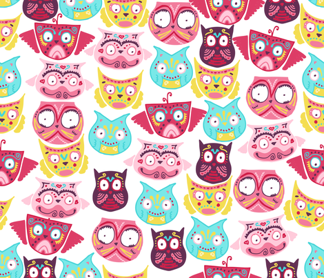 ornate owls fabric by babysisterrae on Spoonflower - custom fabric