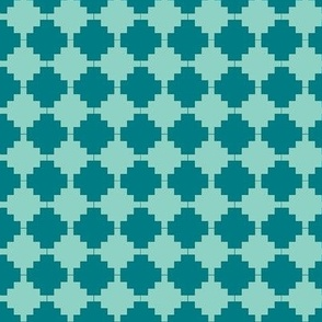two tone teal