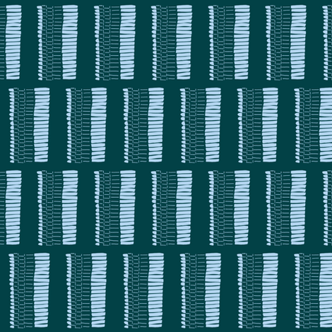 Zipper Teal fabric by januaryprints on Spoonflower - custom fabric