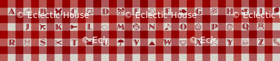 Gingham Alphabet Brighter