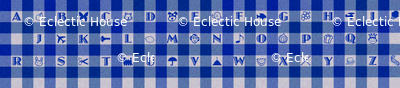 Blue Gingham Alphabet