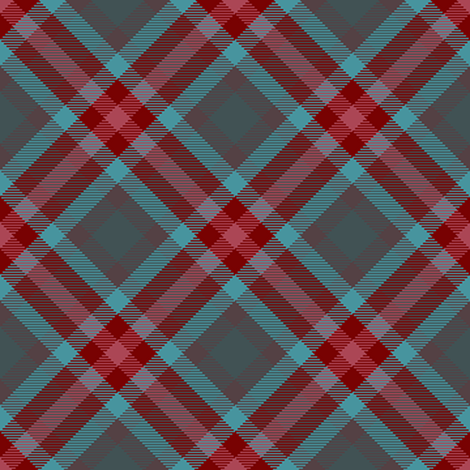 Teal and Burgundy Plaid fabric by eclectic_house on Spoonflower - custom fabric