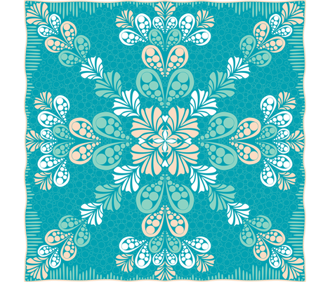 ©2011 Aloha Splash fabric by glimmericks on Spoonflower - custom fabric