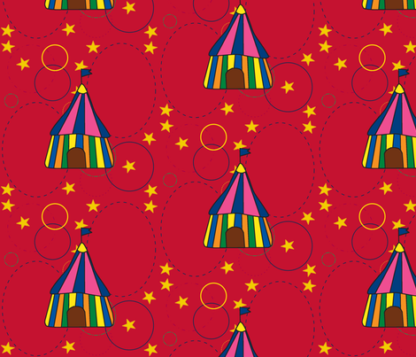 Under the Big Top 2 fabric by sewingcrazy on Spoonflower - custom fabric