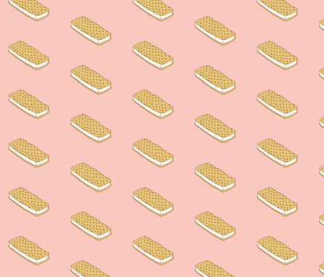 ice cream sandwich fabric by annaboo on Spoonflower - custom fabric