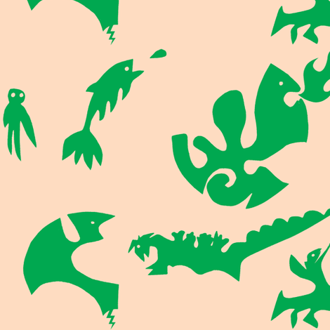 Kaiju fabric by boris_thumbkin on Spoonflower - custom fabric