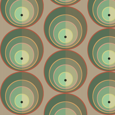 Concentric Green fabric by david_kent_collections on Spoonflower - custom fabric
