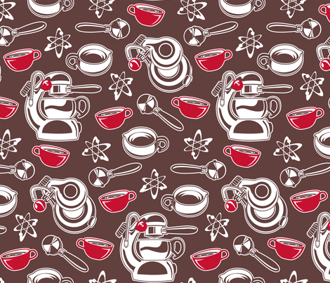 Atomic Coffee fabric by cjldesigns on Spoonflower - custom fabric