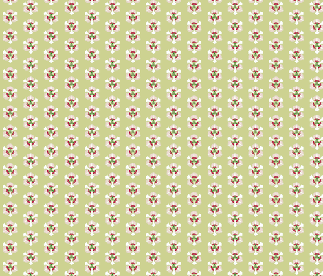 Axe floral on olive fabric by su_g on Spoonflower - custom fabric