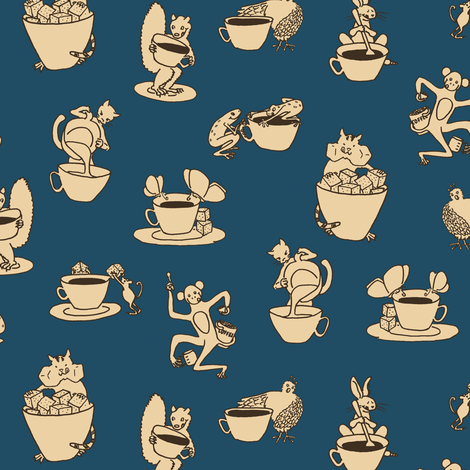 evening coffee fabric by weavingmajor on Spoonflower - custom fabric