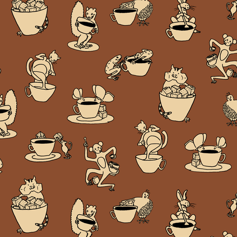 coffee with cream fabric by weavingmajor on Spoonflower - custom fabric