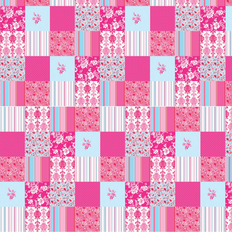 pink_quilt_large fabric by vinkeli on Spoonflower - custom fabric
