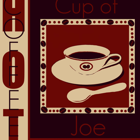 cup of joe # 4 fabric by paragonstudios on Spoonflower - custom fabric