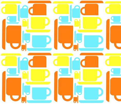 Coffee! Coffee! Coffee! fabric by sewbold on Spoonflower - custom fabric