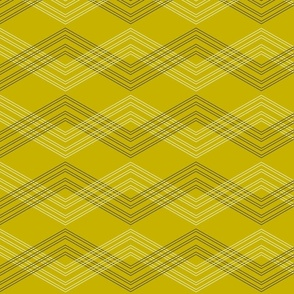 Crisscross Chevron Gold