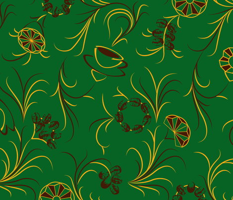 Kaffeeblumenwiese fabric by annosch on Spoonflower - custom fabric