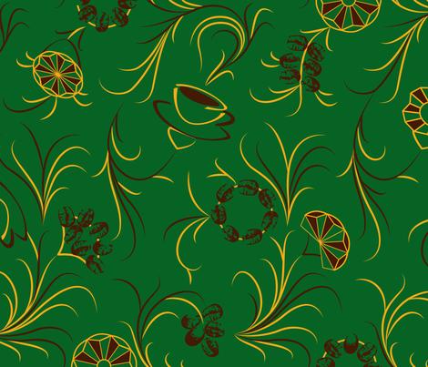 Kaffeeblumenwiese fabric by annosch on Spoonflower - custom fabric