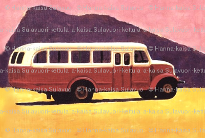 old_volvo_scania_bus_vintage_painting