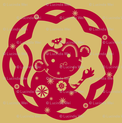 The Year of the Monkey (solo): Red & Gold - © Lucinda Wei