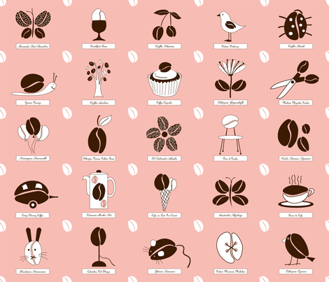 coffee_peach fabric by peppermintpatty on Spoonflower - custom fabric