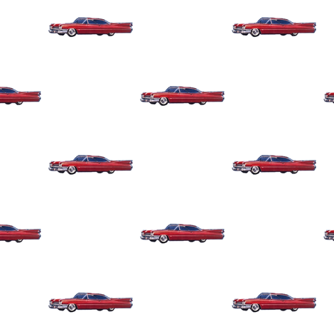 red_cadillac_1959 fabric by vinkeli on Spoonflower - custom fabric