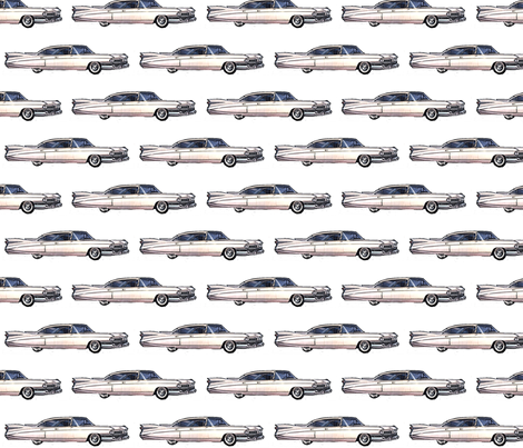 white_cadillac_1959 fabric by vinkeli on Spoonflower - custom fabric