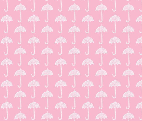 Rainy Days Vintage Umbrella (pink) fabric by pattyryboltdesigns on Spoonflower - custom fabric