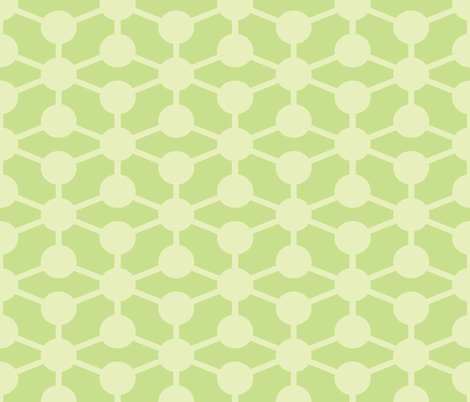 simple molecule soft green fabric by jenr8 on Spoonflower - custom fabric