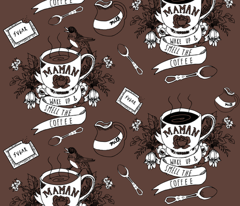 wake up and smell the coffee fabric by youngcaptive on Spoonflower - custom fabric
