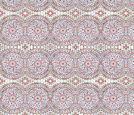 Josie Mandala fabric by poppydreamz on Spoonflower - custom fabric