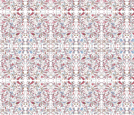 Josie_Small Paisley fabric by poppydreamz on Spoonflower - custom fabric