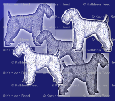 Kerry Blue Terrier Fabric