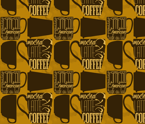 CaffeinatedCraze fabric by tammikins on Spoonflower - custom fabric