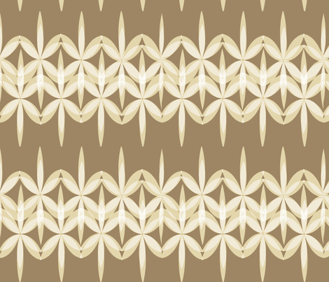 Chocolate Lace Flowers fabric by colie*leigh*designs on Spoonflower - custom fabric