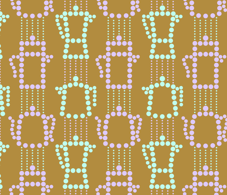 c0ffee and decafe on cafe au lait - dotty stripes fabric by victorialasher on Spoonflower - custom fabric