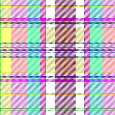 Madras in pink, mint green and yellow fabric by eclectic_house on Spoonflower - custom fabric